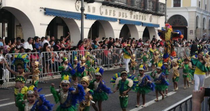 Con lleno histórico se desarrolla el Desfile Infantil del Carnaval