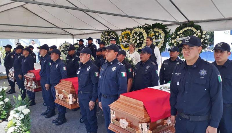 Con honores, despide SSP a policías abatidos en Córdoba