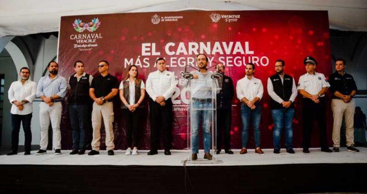 4 mil elementos de seguridad cuidarán al Carnaval de Veracruz
