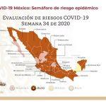 Semáforo Covid en Veracruz; pasa a naranja