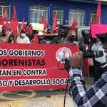 Protestan antorchistas en Xalapa y Veracruz; piden regularizar terrenos
