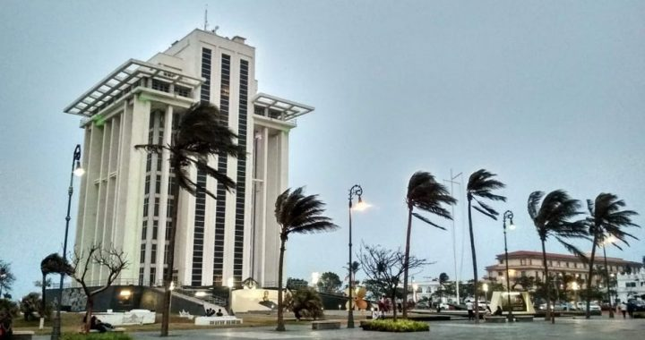 Norte en Veracruz este lunes con rachas de hasta 95km/h