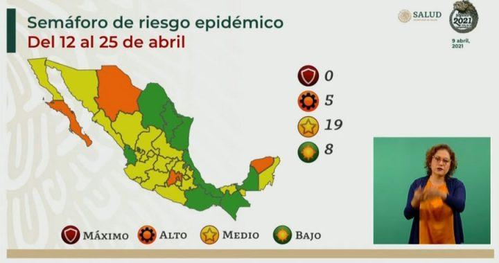 Veracruz se mantiene en verde; semáforo Covid