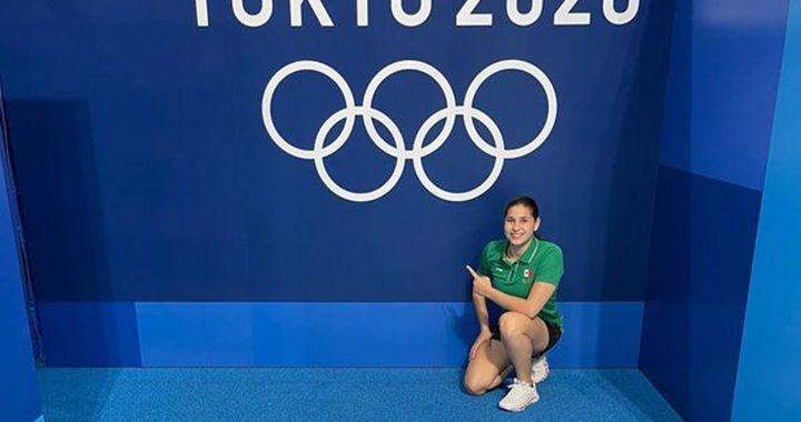 Dolores Hernández feliz por su cuarto lugar olímpico
