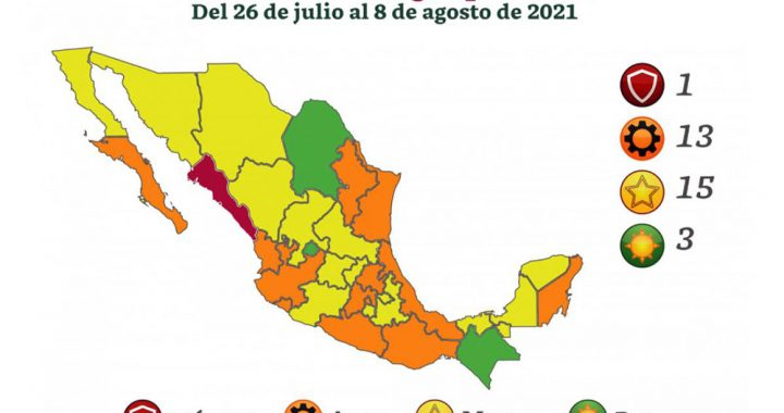 Semáforo Covid en Veracruz; retrocede a naranja