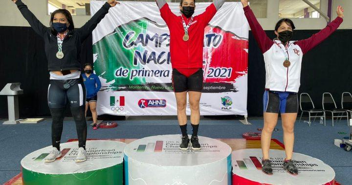 Jessica Jarquín con fuerte presencia en el nacional de halterofilia